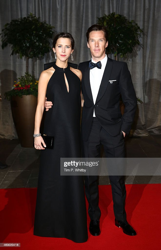 Sophie Hunter and Benedict Cumberbatch attend the after party for the EE British Academy Film Awards at The Grosvenor House Hotel on February 8, 2015 in London, England.