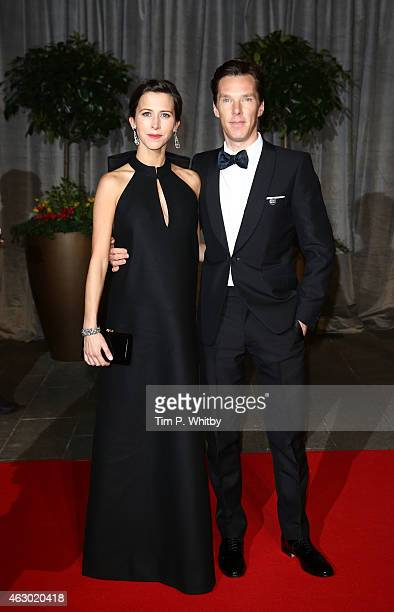 Sophie Hunter and Benedict Cumberbatch attend the after party for the EE British Academy Film Awards at The Grosvenor House Hotel on February 8 2015...
