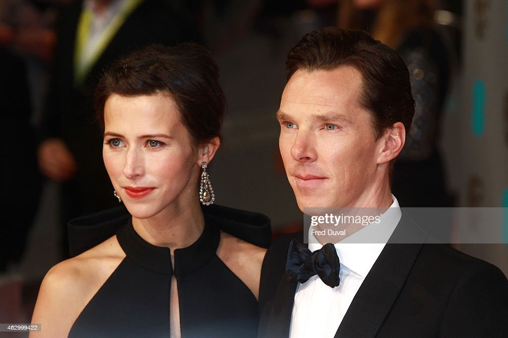 Sophie Hunter and Benedict Cumberbatch attend the EE British Academy Film Awards at The Royal Opera House on February 8, 2015 in London, England.