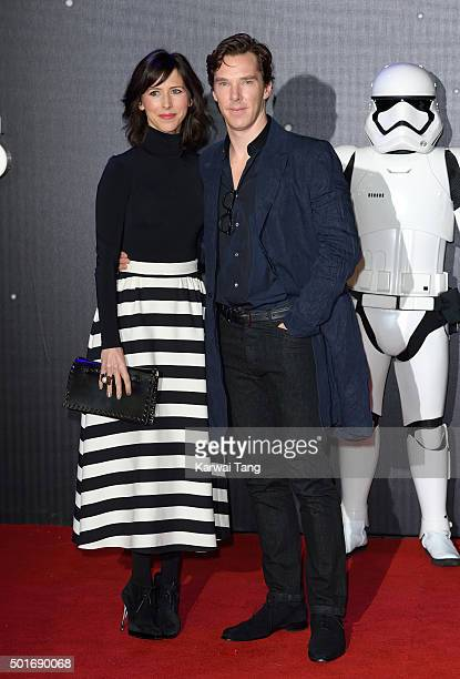 Sophie Hunter and Benedict Cumberbatch attend the European Premiere of Star Wars The Force Awakens at Leicester Square on December 16 2015 in London...
