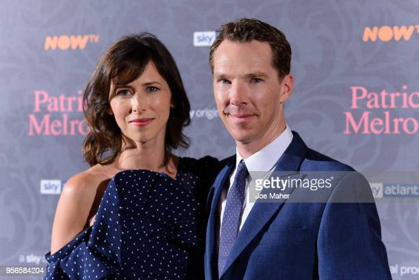 Sophie Hunter and Benedict Cumberbatch attend the launch of 'Patrick Melrose' at Searcys Knightsbridge on May 9, 2018 in London, England.