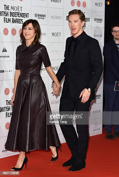 Sophie Hunter and Benedict Cumberbatch attend the Moet British Independent Film Awards at Old Billingsgate Market on December 7 2014 in London England