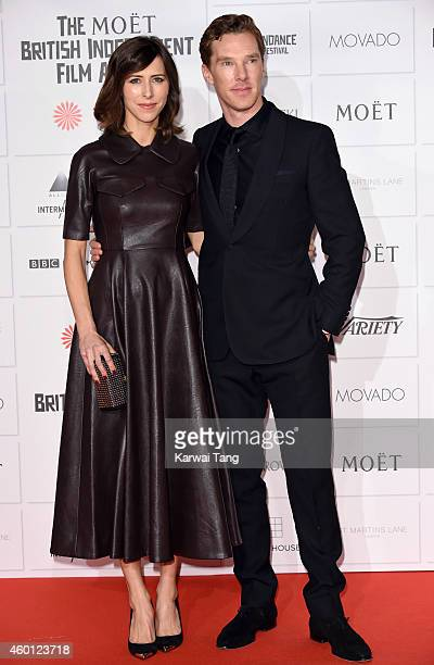 Sophie Hunter and Benedict Cumberbatch attend the Moet British Independent Film Awards at Old Billingsgate Market on December 7, 2014 in London,...