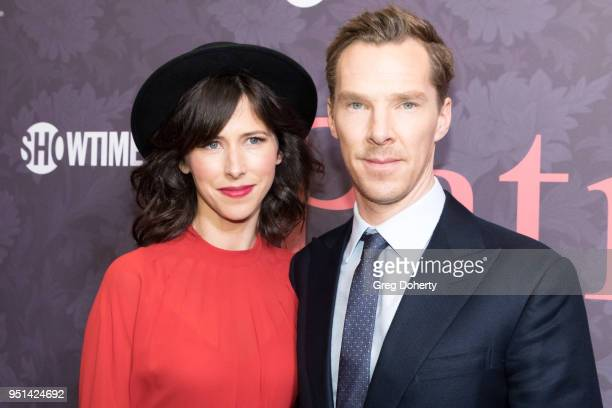 Sophie Hunter and Benedict Cumberbatch attend the Patrick Melrose Series Premiere at Linwood Dunn Theater on April 25 2018 in Los Angeles California
