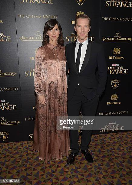 "Sophie Hunter and Benedict Cumberbatch attend the Screening of Marvel Studios' ""Doctor Strange"" hosted by Lamborghini with the Cinema Society,..."