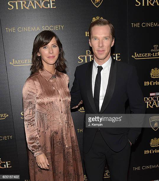 Sophie Hunter and Benedict Cumberbatch attend the Screening of Marvel Studios' Doctor Strange hosted by Lamborghini with the Cinema Society...
