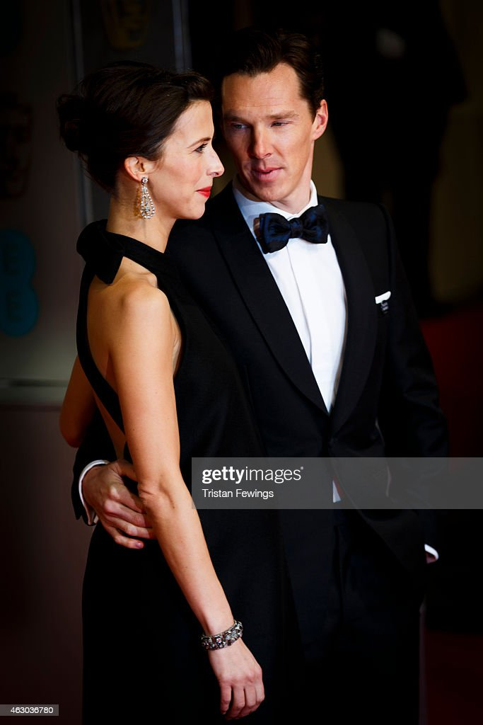 Sophie Hunter and Benedict Cumberbatch attends the EE British Academy Film Awards at The Royal Opera House on February 8, 2015 in London, England.