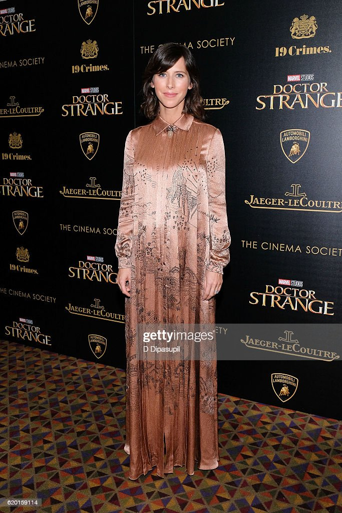 Sophie Hunter attends a screening of Marvel Studios' 'Doctor Strange', hosted by Lamborghini with The Cinema Society, Jaeger-LeCoultre, and 19 Crimes Wines, at AMC Empire on November 1, 2016 in New York City.