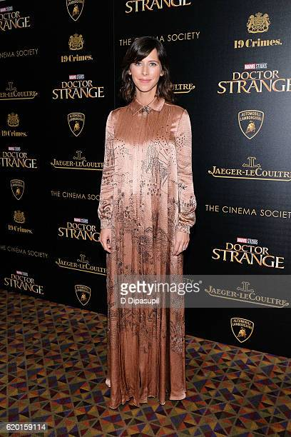 Sophie Hunter attends a screening of Marvel Studios' Doctor Strange hosted by Lamborghini with The Cinema Society JaegerLeCoultre and 19 Crimes Wines...