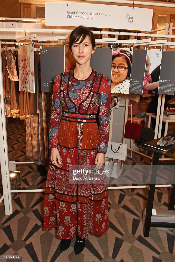 Sophie Hunter attends 'Shop Wear Care', a one-night only shopping event in aid of Great Ormond Street Hospital Children's Charity, at Claridge's Hotel on November 16, 2015 in London, England.