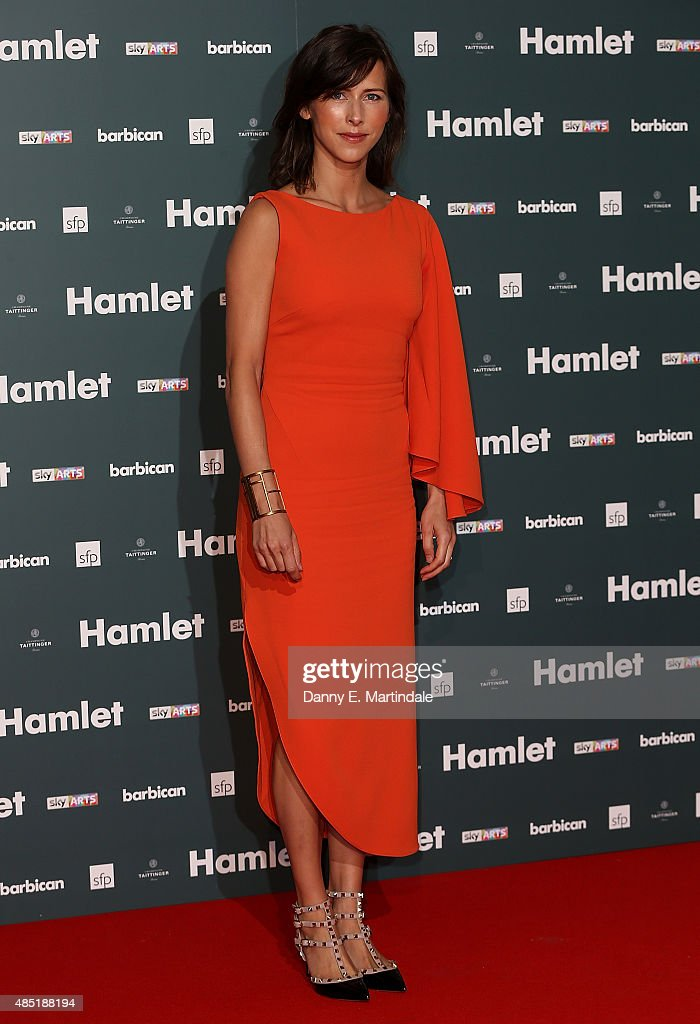 Sophie Hunter, wife of Benedict Cumberbatch, attends the press night of 'Hamlet' at Barbican Centre on August 25, 2015 in London, England.