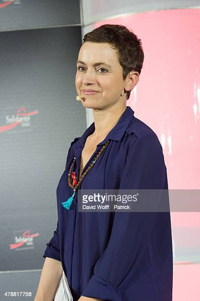 Sophie Jovillard attends conferences at Solidays Festival on June 27 2015 in Paris France