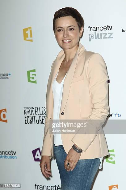 Sophie Jovillard attends 'La Rentree France Televisions' at Palais De Tokyo on August 27 2013 in Paris France