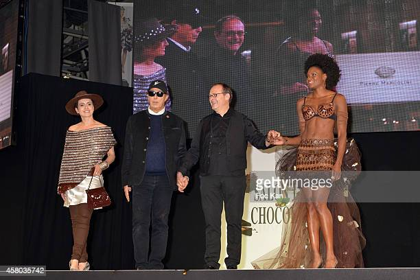 Sophie Jovillard Gilles Dufour Paul Hevin and Muriel Hurtis attend the 'Salon Du Chocolat Chocolate Fair 20th Anniversary' At the Parc des...