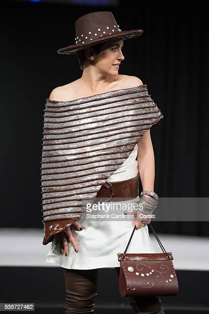 Sophie Jovillard walks the runway during the 'Salon Du Chocolat' Fashion Show on October 29 2014 in Paris France