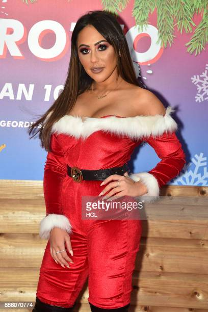 Sophie Kasaei attends a Christmas Photocall in Santa's Grotto at Leicester Square on December 5 2017 in London England