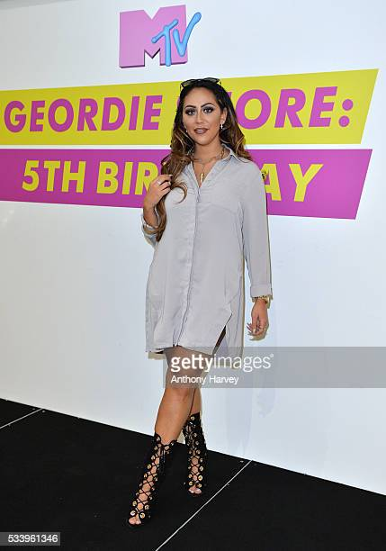 Sophie Kasaei of Geordie Shore celebrate their fifth birthday at MTV London on May 24 2016 in London England