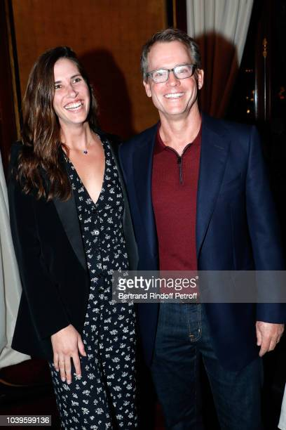 Katie Link and Greg Kinnear attend 'Ryder Cup Dinner' at Fouquet's Barriere on September 24 2018 in Paris France