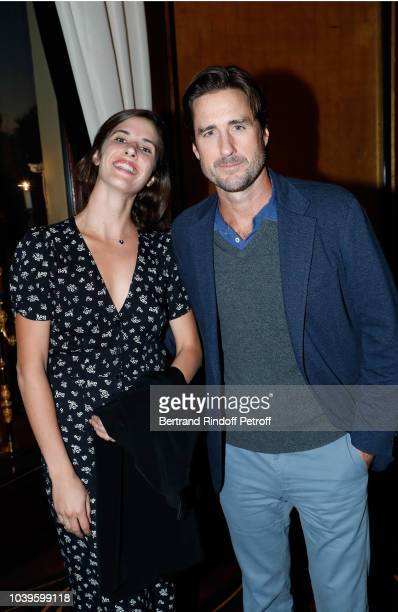 Katie Link and Luke Wilson attend 'Ryder Cup Dinner' at Fouquet's Barriere on September 24 2018 in Paris France