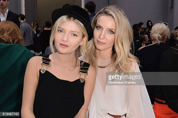Sophie Kennedy and Annabelle Wallis attend the Chloe show as part of the Paris Fashion Week Womenswear Fall/Winter 2016/2017 on March 3 2016 in Paris...