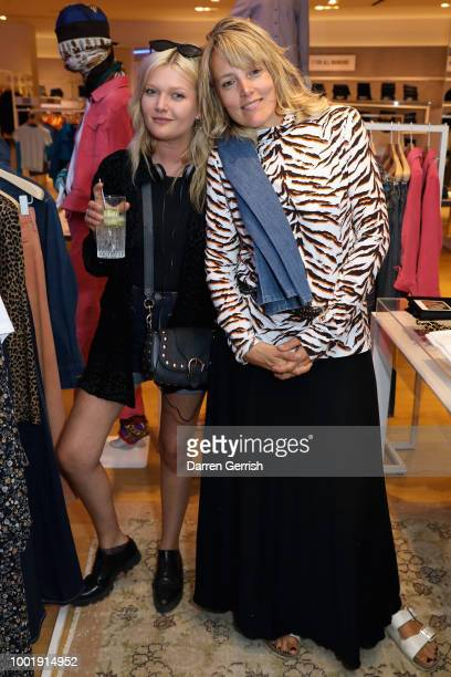 Sophie Kennedy Clark and Bay Garnett attend the MIH Jeans x Bay Garnett Golborne Road event on July 19 2018 in London United Kingdom