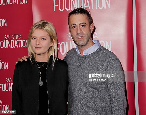 Sophie Kennedy Clark and Matthew Ogens attend the SAGAFTRA Foundation's Conversations for 'Go North' at SAGAFTRA Foundation Screening Room on January...