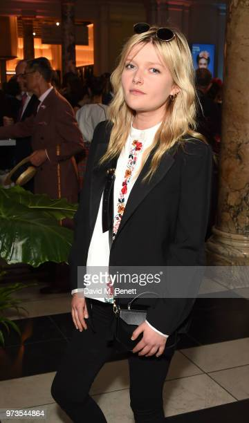 Sophie Kennedy Clark attends a private view of 'Frida Kahlo Making Her Self Up' at The VA on June 13 2018 in London England