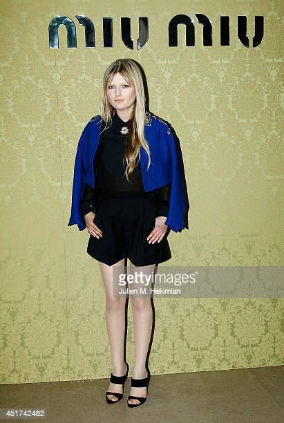 Sophie Kennedy Clark attends the Miu Miu Resort Collection 2015 at Palais d'Iena on July 5 2014 in Paris France