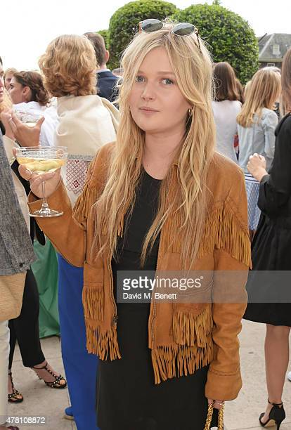 Sophie Kennedy Clark attends The Ralph Lauren Vogue Wimbledon Summer Cocktail Party hosted by Alexandra Shulman and Boris Becker at The Orangery at...