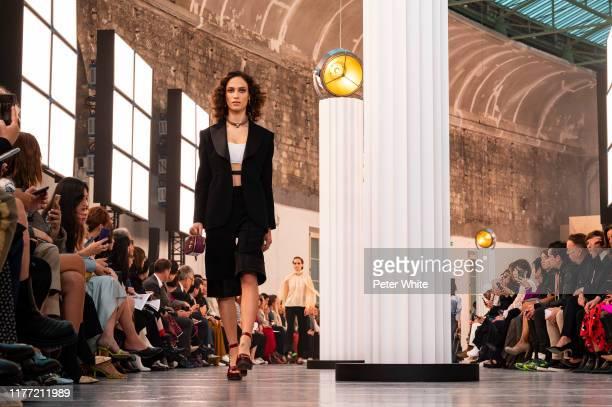Sophie Koella walks the runway during the Chloe Womenswear Spring/Summer 2020 show as part of Paris Fashion Week on September 26, 2019 in Paris,...