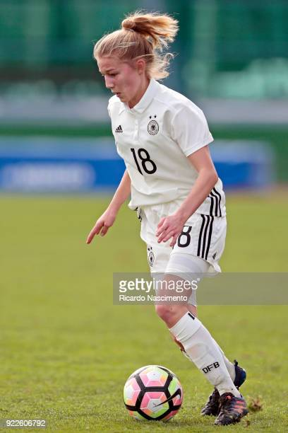 Sophie Krall of Girls Germany U16 during UEFA Development Tournament match between U16 Girls Germany and U16 Girls Italy at VRSA Stadium on February...