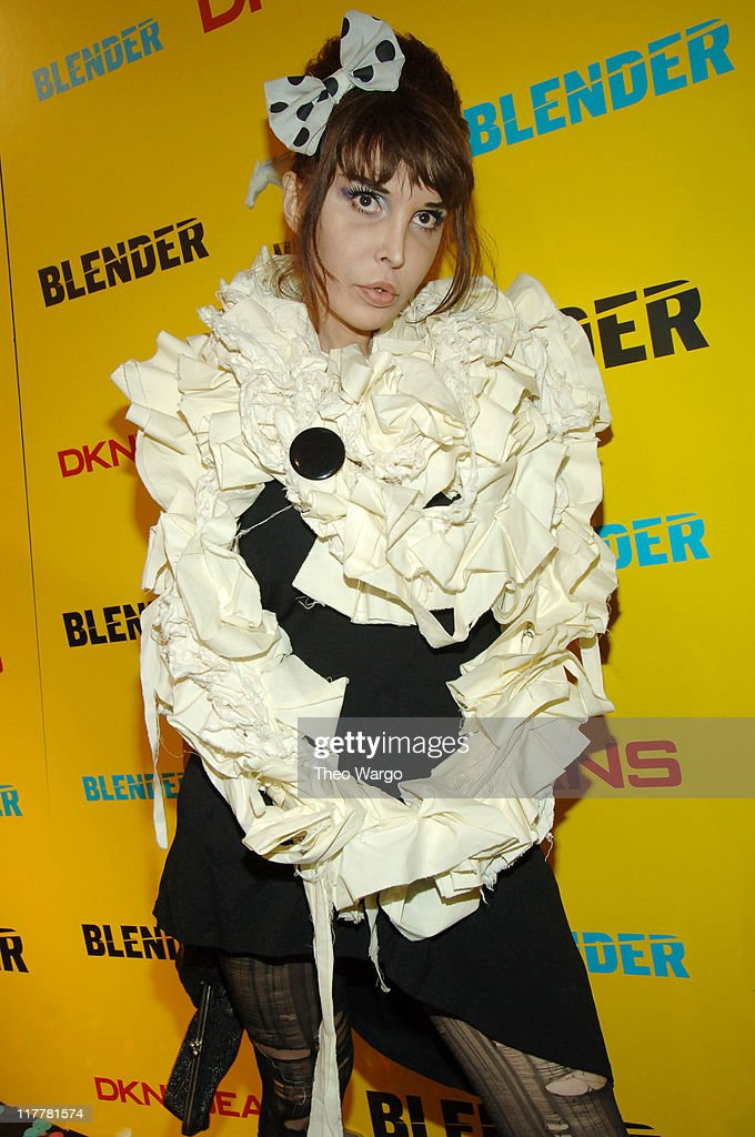 Sophie Lamar during DKNY Jeans Presents Blender Magazine's 5th Anniversary Party at Studio 450 in New York City, New York, United States.