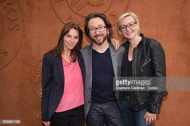 Sophie Le Saint Alex Jaffray and Sylvie Adigard attend the Roland Garros French Tennis Open 2014