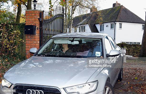 Sophie Lea the girlfriend of comedian Freddie Starr drives away from their home as police continue to question him on November 2 2012 in Studley...