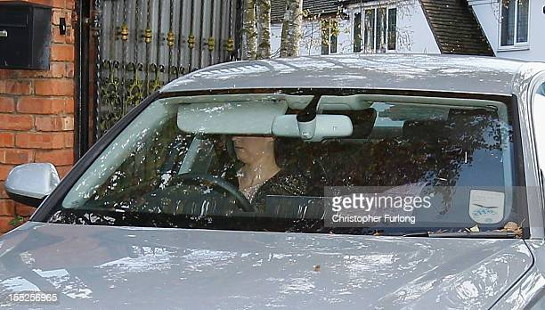 Sophie Lea the girlfriend of comedian Freddie Starr drives away from their home today as police continue to question him on November 2 2012 in...