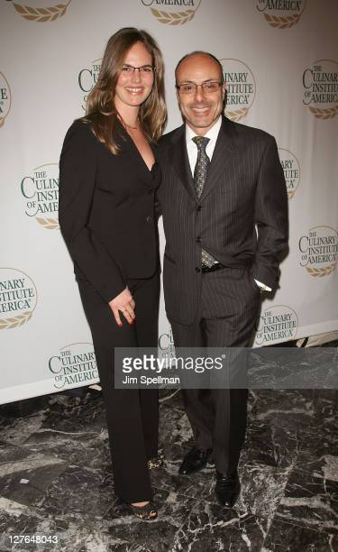 Sophie Leibowitz and Chef Alfred Portale attend the Culinary Institute of America's 2011 Augie Awards at The New York Marriott Marquis on March 30...