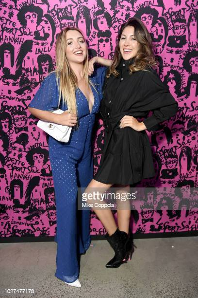 Sophie Leisk and Nora Leisk attend the Alber Elbaz X LeSportsac New York Fashion Week Party at Gallery I at Spring Studios on September 5 2018 in New...