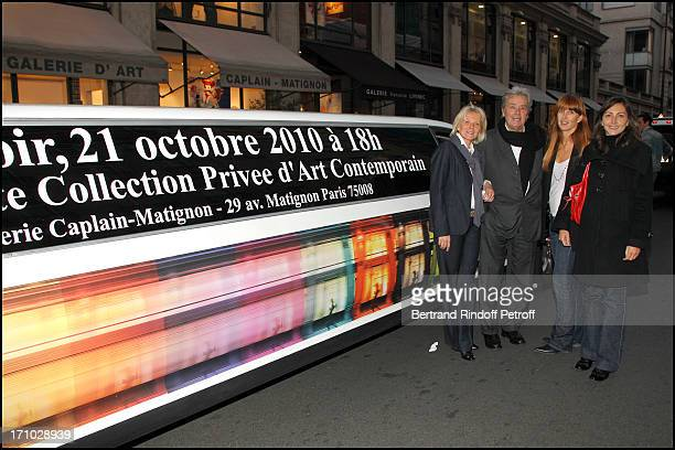 Sophie Litras Alain Delon Sophie Clerico Delon Laurence at Exhibition Opening Of The Collection Nicolas Laugero Lasserre At Gallery Galerie Caplain...