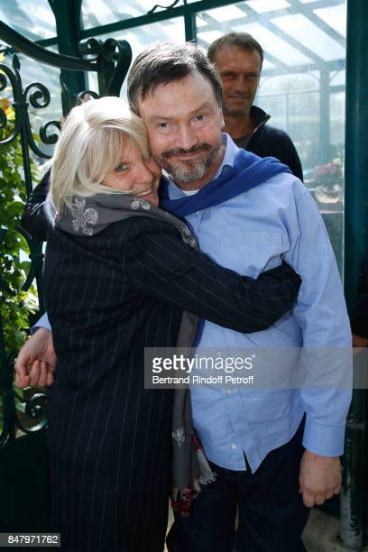 Sophie Litras and Bruno Finck attend the Garden Party organized by Bruno Finck companion of JeanClaude Brialy at Chateau De Monthyon on September 16...