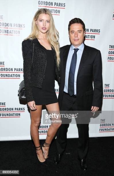 Sophie Longford and Justin Etzin attend the 2017 Gordon Parks Foundation Awards Gala at Cipriani 42nd Street on June 6 2017 in New York City