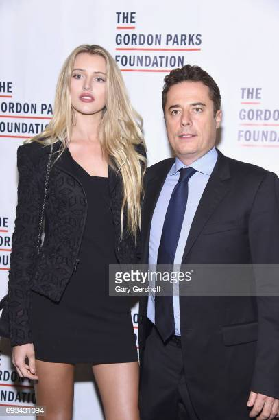 Sophie Longford and Justin Etzin attends the 2017 Gordon Parks Foundation Awards gala at Cipriani 42nd Street on June 6 2017 in New York City