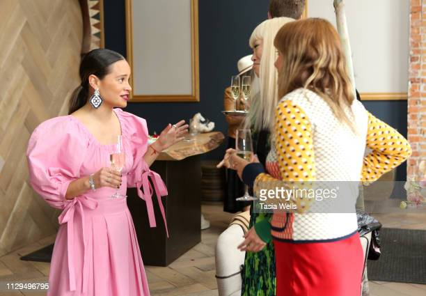 """Sophie Lopez, Jen Woodward and Natalie Mark attend Norah Restaurant Hosts CFDA Fashion Trust """"A Toast To Stylists"""" Pre-Oscar Brunch Hosted By British..."""