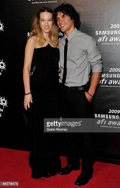 Sophie Lowe and Bobby Morley arrive ahead of the 2009 AFI Industry Awards at Regent Theatre on December 11 2009 in Melbourne Australia