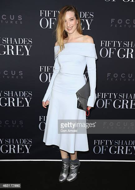 Sophie Lowe arrives at the Fifty Shades of Grey screening at the Entertainment Quarter on February 11 2015 in Sydney Australia