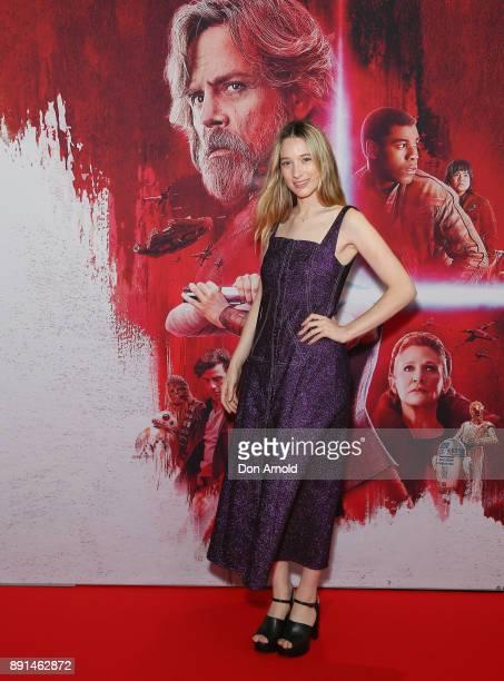 Sophie Lowe attends Star Wars The Last Jedi Sydney Screening Event on December 13 2017 in Sydney Australia