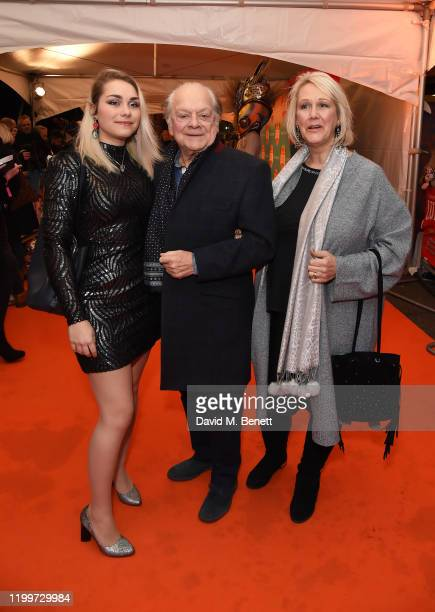 """Sophie Mae Jason, Sir David Jason and Gill Hinchcliffe arrive at the gala performance of Cirque De Soleil's """"LUIZA"""" at The Royal Albert Hall on..."""
