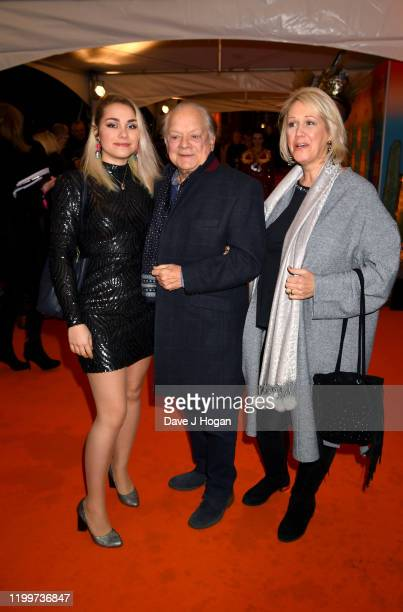 "Sophie Mae, Sir David Jason and Gill Hinchcliffe attend Cirque du Soleil's ""LUZIA"" at Royal Albert Hall on January 15, 2020 in London, England."