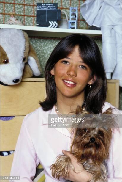 Sophie Marceau after the shooting of La boum 1981