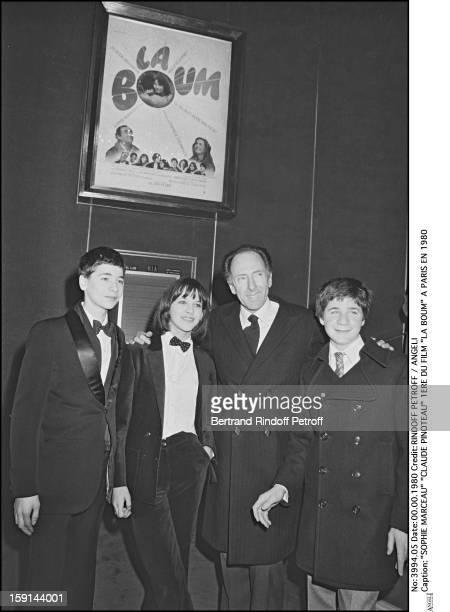 Sophie Marceau and Claude Pinoteau attend the premiere of film La Boum in Paris