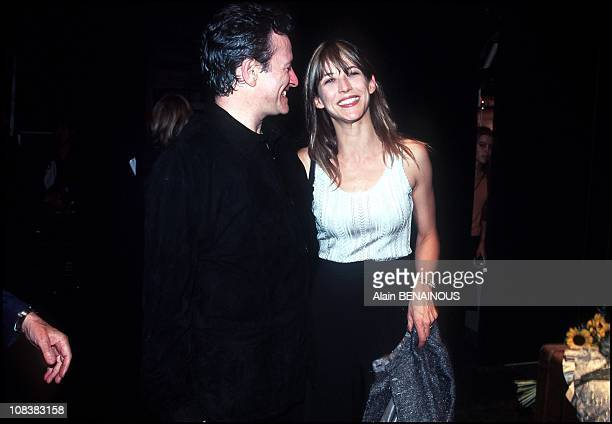 Sophie Marceau and Francis Huster in France on September 11 2000